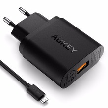 Quick Charge 3.0 AUKEY USB Wall Charger with Micro-USB Cable for Galaxy S7/S6/Edge Nexus 6p, LG G5 | Qualcomm Certified(China (Mainland))