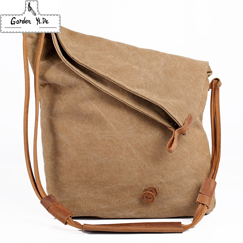 Fashion Korean Vintage military canvas leather Women Messenger Bag canvas shoulder bag for women Crossbody bag Sling Casual bag(China (Mainland))