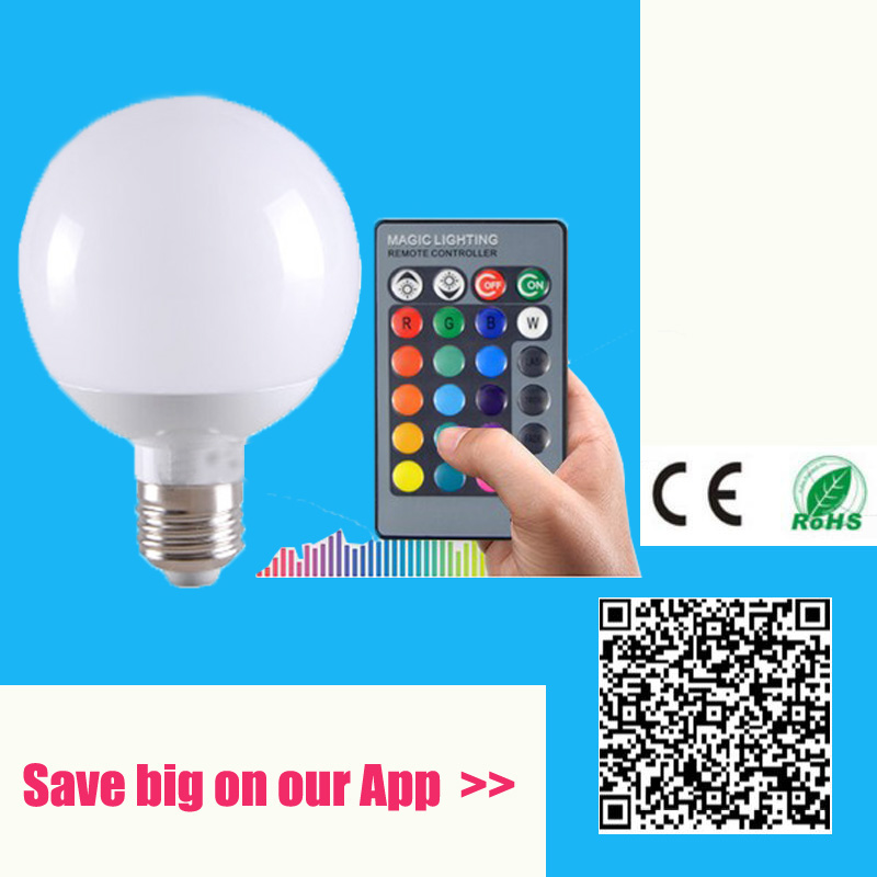 LED E27 RGB Bulb lamp AC110V 220V 5W 15W 20W LED RGB Spot light dimmable Lampada Led RGB lighting+Remote Control with Memory<br><br>Aliexpress