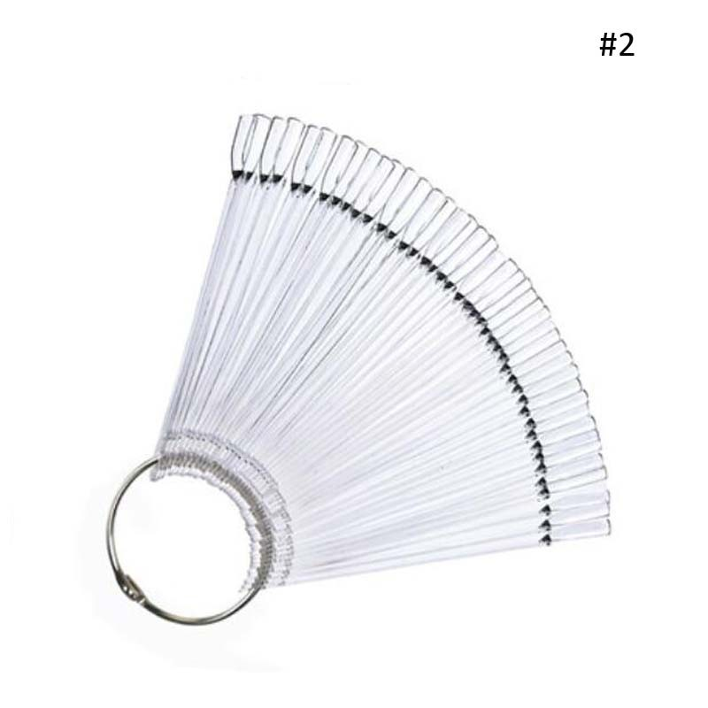 50pcs Faux Ongles avec Colle False Nails Fan Style Fake Nails Tips Artificial Nails Pallet Nail Art Display Clipper Nep Nagels