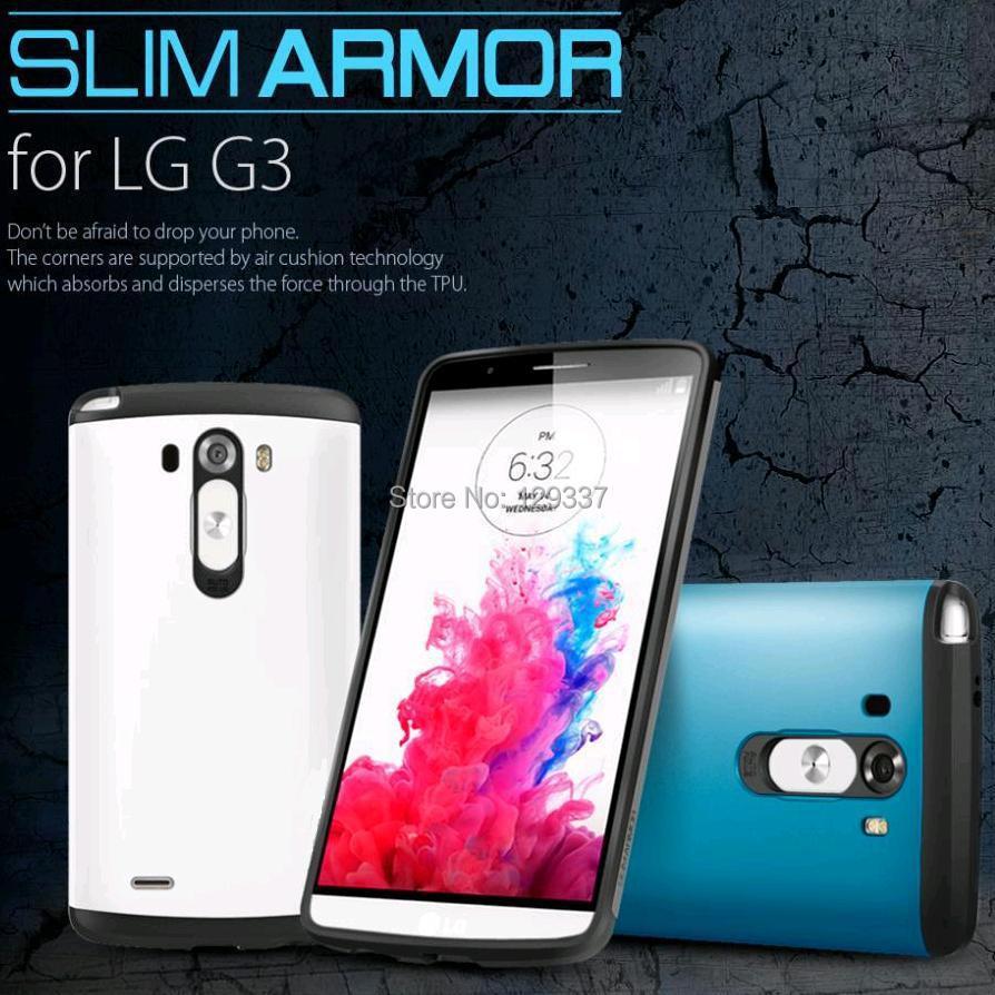 Tough Slim Armor Phone Bag Hybrid Silicone Hard Shockproof Back Cover Defender Case For LG G3 Optimus D855 D850 D830 F400k(China (Mainland))