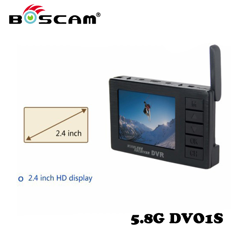 Original BOSCAM DV01S 2.4 inch 8 Channel Display Mini Video Camera 5.8GHz Wireless Receiving DVR For RC Drone Free Shipping