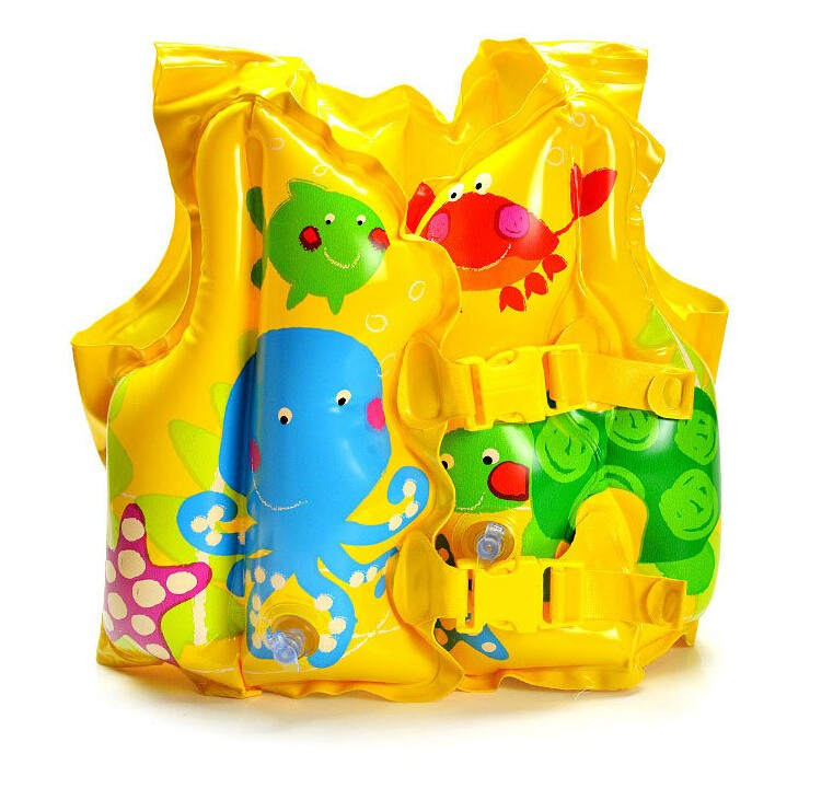 Baby Safety Swimming Aid Inflatable Swim Vest Fish Water Fun Toy(China (Mainland))