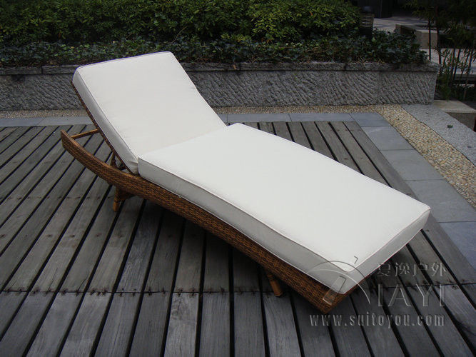 buy patio pe rattan lounge chair modern. Black Bedroom Furniture Sets. Home Design Ideas