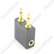 50 шт./лот авиакомпания самолет наушники наушники разъем для гарнитуры звуковой адаптер 3.5 мм