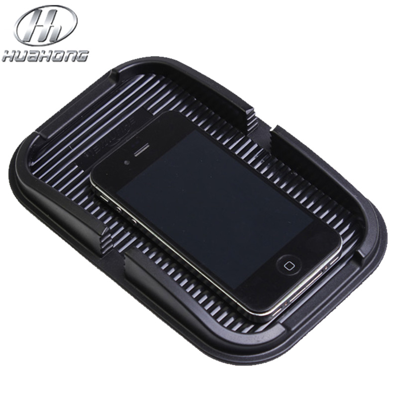 Car Anti-Slip Mat Dashboard Mobile phone pad Navigation Support Black color Silicone material(China (Mainland))