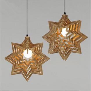 Фотография Restoring ancient ways the geometric snow chandeliers wood light droplight   pendant  living  room bar decorate  fixture lamp