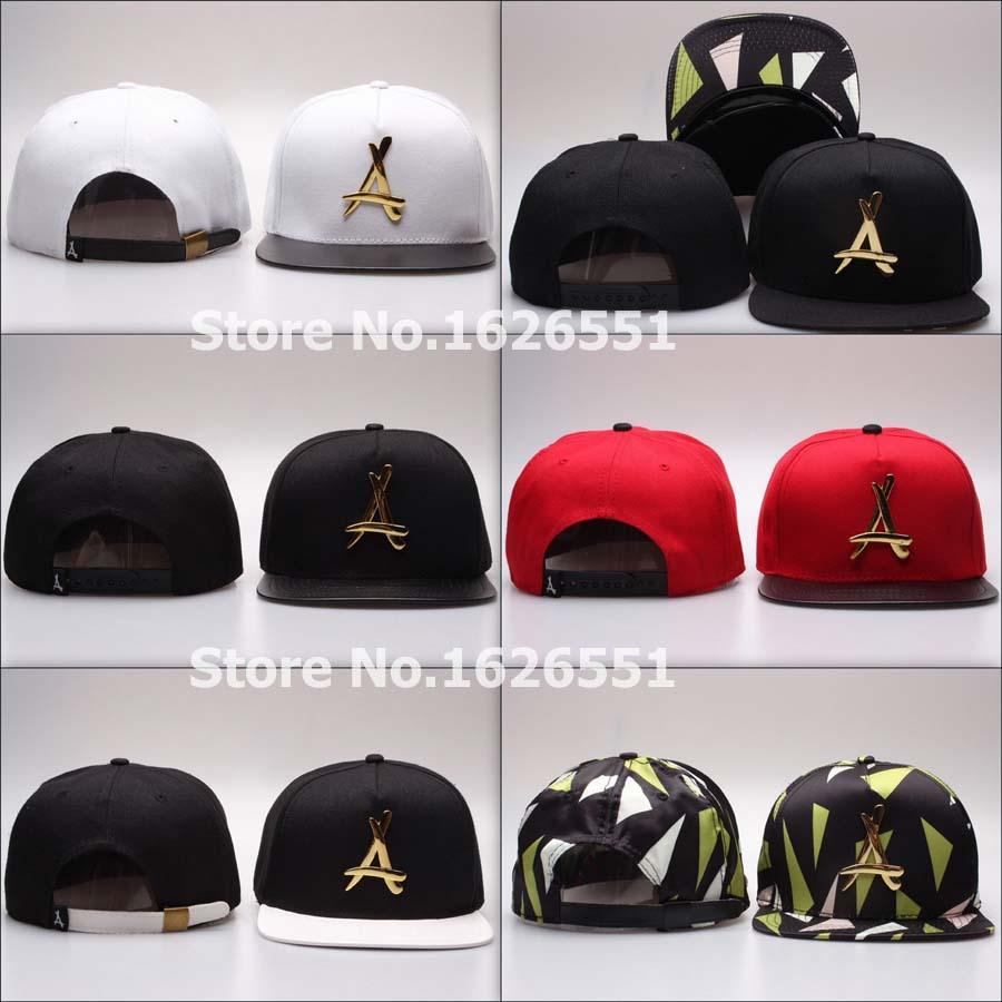 2015 new arrival 6 styles Tha Alumni hat leather visor snapback zebra Gold metal A logo hip hop adjustable Strapback cap(China (Mainland))