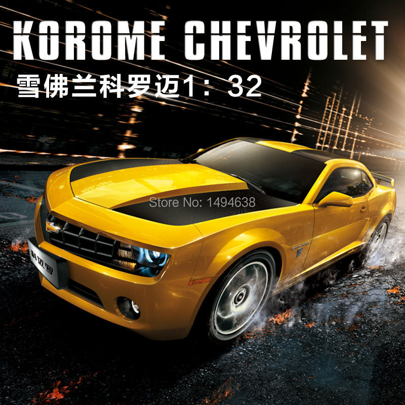 1:32 mini Chevrolet Camaro Sports Car Bumblebee alloy model Car Sound & Light Car Toys Boys Birthday Gift with Simple Package(China (Mainland))