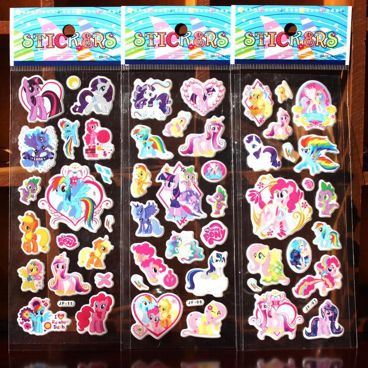 New Arrival! Wholeale 1000 Sheets Mixed Styles Horse PVC Cartoon Puffy Stickers for Kids 7*17cm(China (Mainland))