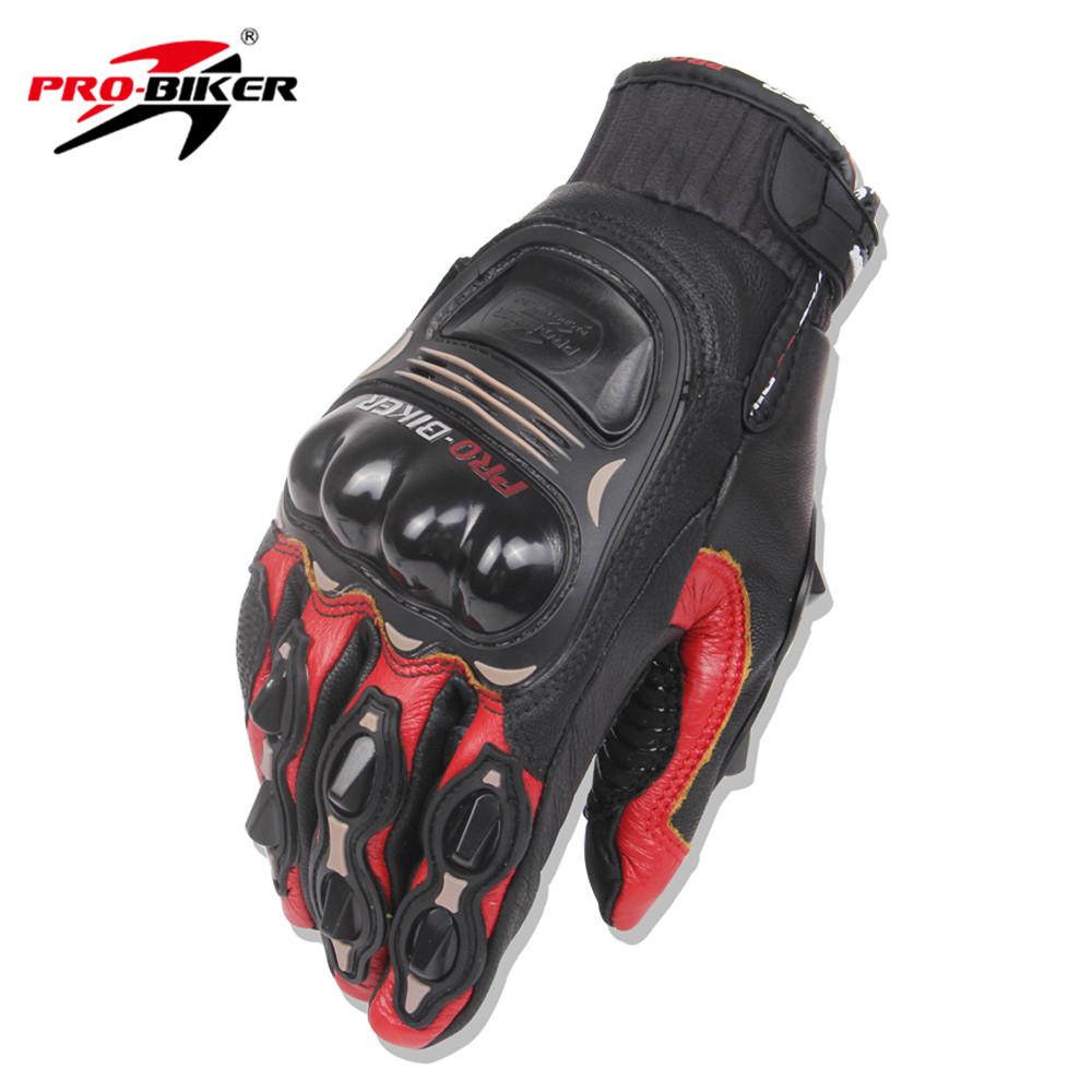 Motorcycle gloves pink - Pro Biker Men Women Motorcycle Gloves Leather Motocross Off Road Gloves Racing Guantes Moto Riding