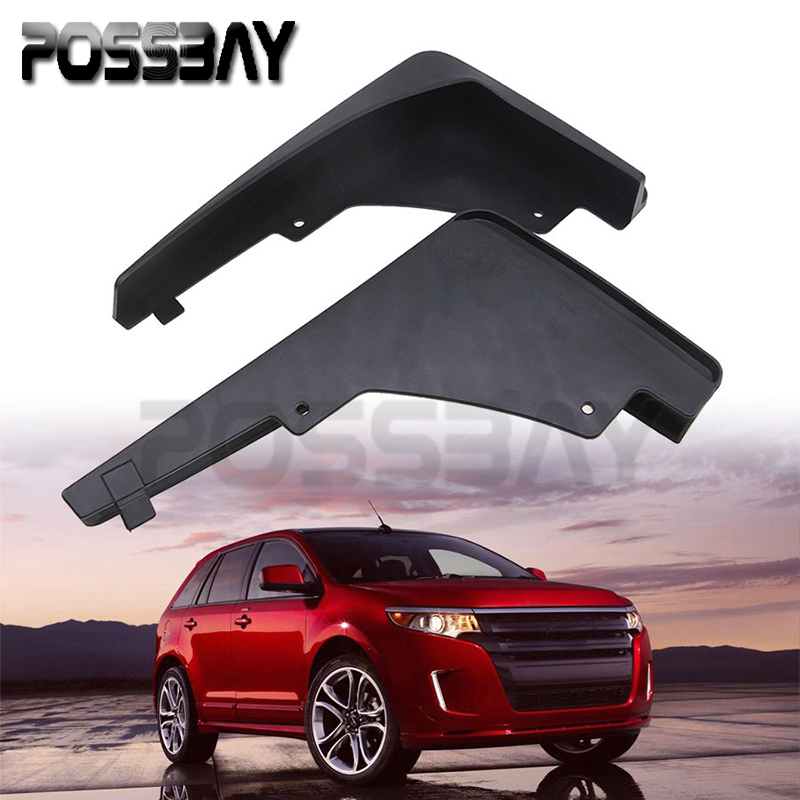 POSSBAY 2pcs Black Front Auto Car Mud Flaps Splash Guards Fender Mudguards Fit Ford Edge 3.0L 2010-2013 Edge 2.0T Car-styling(China (Mainland))