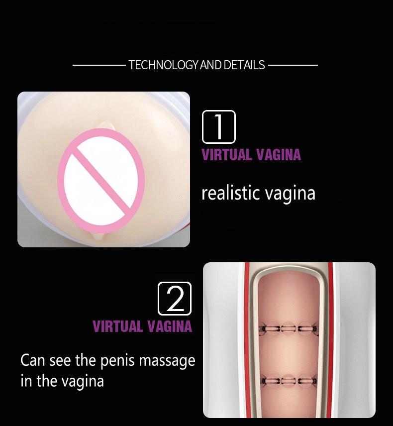 Leten NEW Automatic Massage Of penis USB Charging Electric Male Masturbator 7 speed vibrator Artificial Vagina Sex Toys For Men