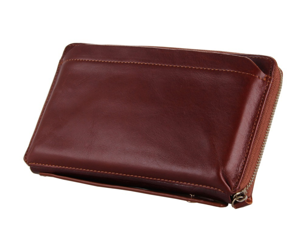 8039B J.M.D Mens Genuine Leather Brown Clutch Bag Wallet<br><br>Aliexpress