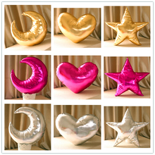 Baby Plush love heart Moon pillow 45*45cm gold star Pillows Moon cushions Sofa decorative for kids Room Stuffed Toys(China (Mainland))