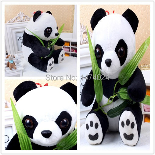 20CM Panda Bear Best Valentine Gift Stuffed Animals Urso De Pelucia Girls Pokemon Pelucia Toys With Recording Private Customed(China (Mainland))
