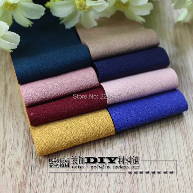 diy handmade jewelryhair accessories ribbon bow material layering frosted matte linen chiffon cloth belt 4CM hair ribbons - Sissel's Magic Store store