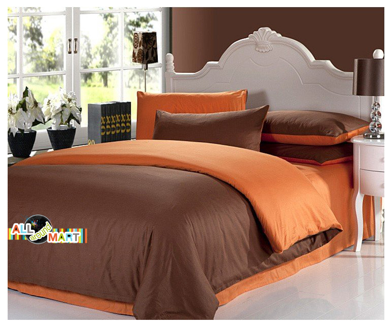 Free Shipping 4pcs Designer Cotton Contrast Color Bedding