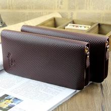 Top Synthetic Leather Men Long Wallets Man England Styles Luxury Popular Male Handbage Carteira Masculina Purse Card Holder