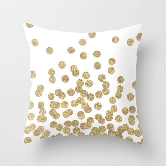 Bulk Throw Pillow Cases : Gold-Glitter-Dots-Decorative-Cushion-Covers-Polyester-Throw-Ikea-Pillow-Case-Customized ...