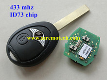 For BMW Mini Rover 75 Remote Key Fob FULL COMPLETE 433MHZ WITH ELECTRONICS Mini Cooper R50 R53 Alarm Systems Securit