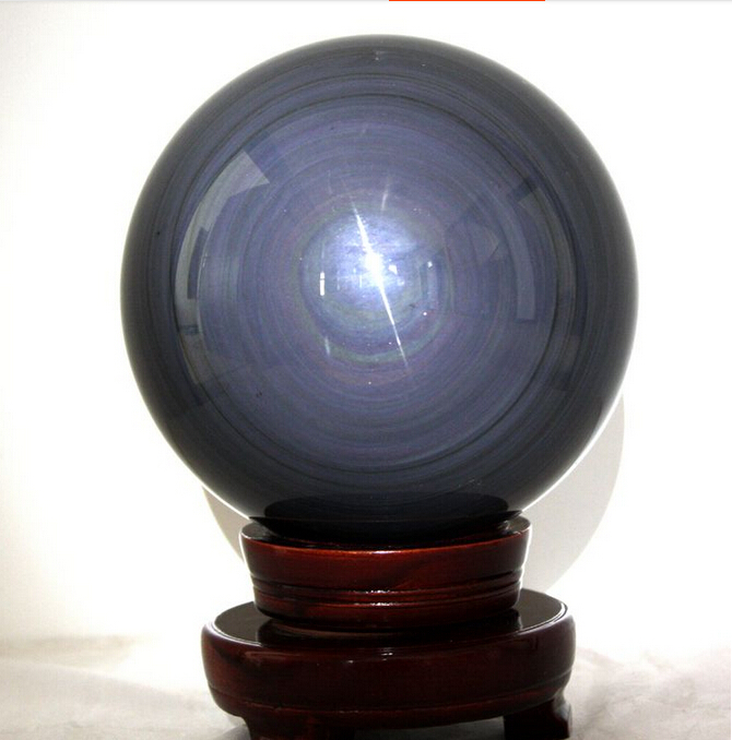 AAA+++Natural Obsidian Rainbow Eye Sphere Ball Feng Shui Ball Furnishing Articles 23MM--30MM(China (Mainland))
