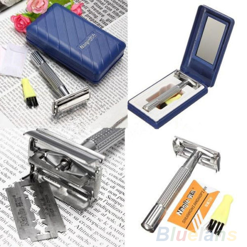 Men's Safety Classic face care Traditional Double Edge Shave Shaving Hair Blade Razor 08V2(China (Mainland))