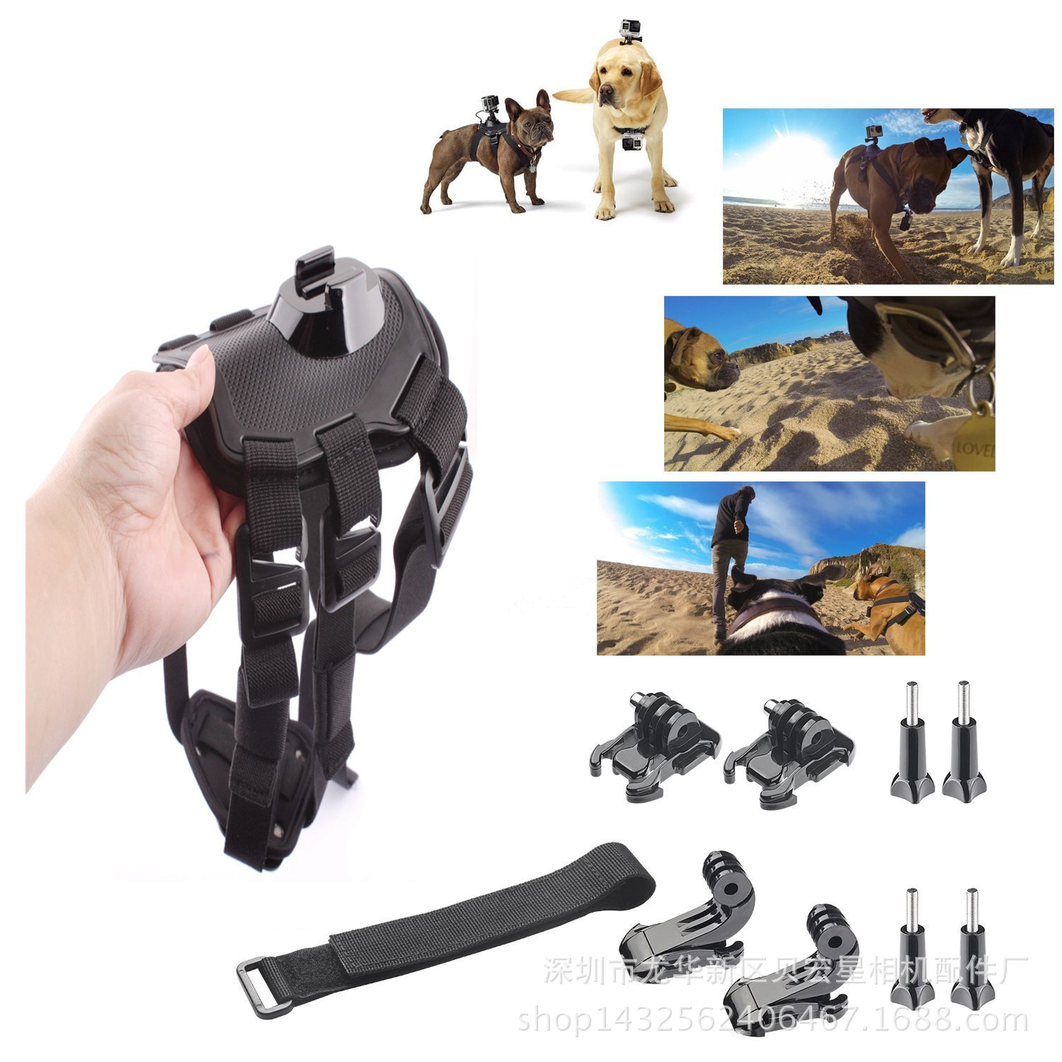 3+ Gopro4 3 camera accessories dog with a dog chest fixed with the manufacturer of the package burst(China (Mainland))