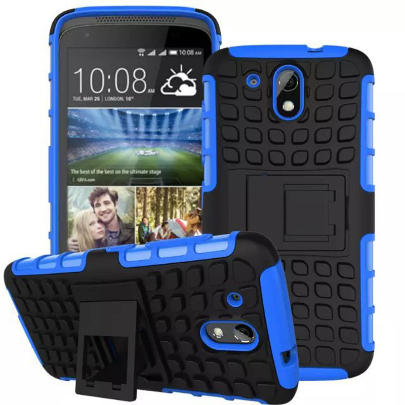 1Pcs,For Desire 526 Antiskid Case Rugged Rubber Armor Hard PC+TPU Hybrid Kickstand Cover Cell Phone Case For HTC Desire 526G+(China (Mainland))