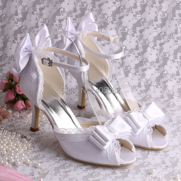 (20 Colors) Hot Style Nice Summer Sandals Shoes 2014 White Satin Wedding Bride Sandals with Butterfly(China (Mainland))