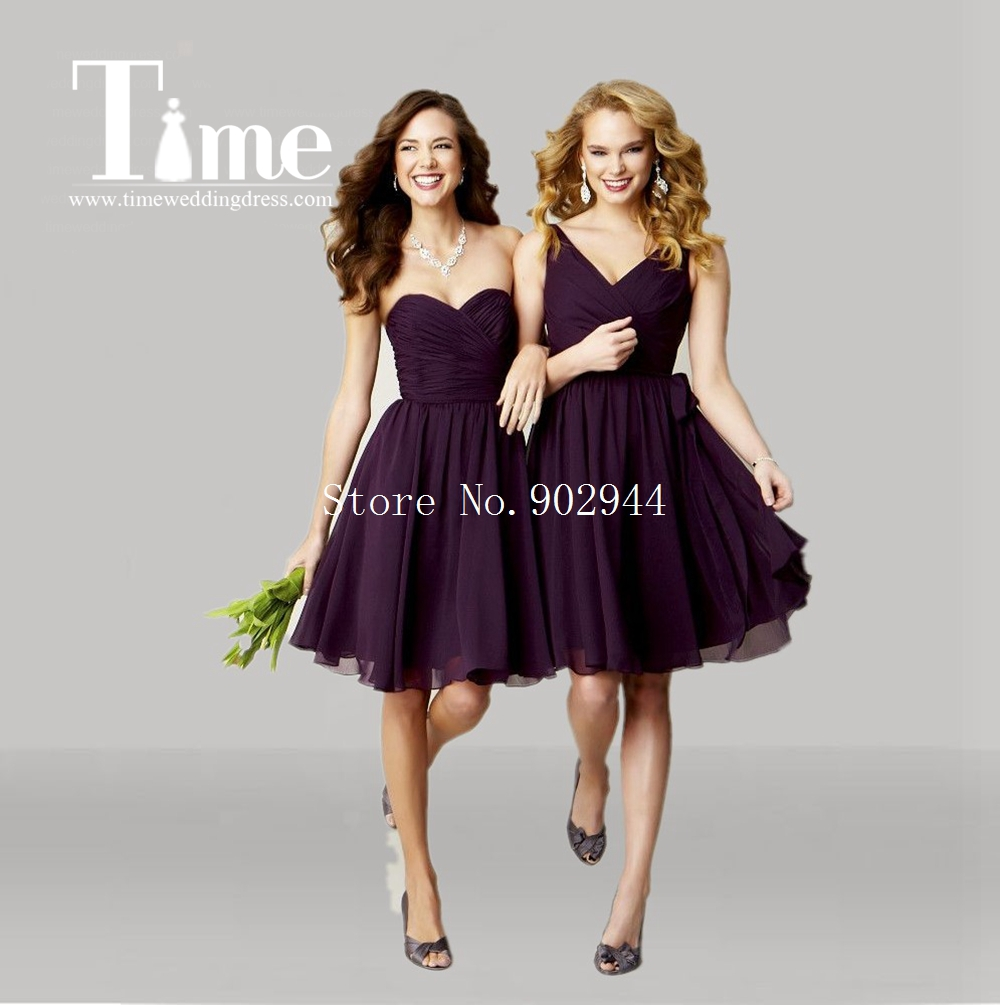 High Quality Eggplant Purple Bridesmaid Dresses Promotion-Shop for ...