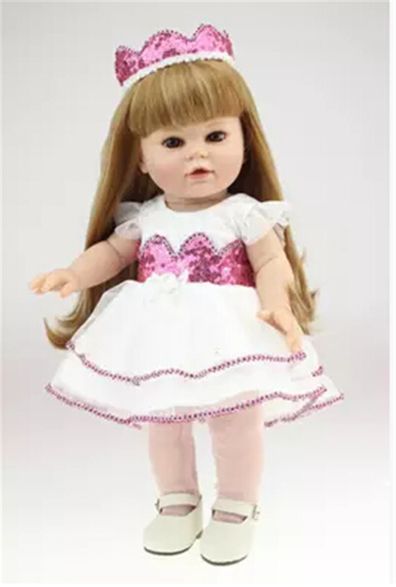 Cute 14 Inch Full Silicone Baby Doll with Clothes Lifelike