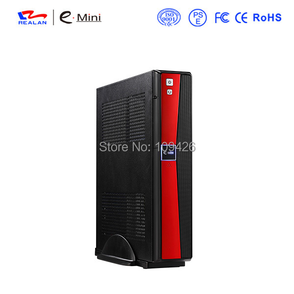 Realan UV Black Mini ITX Micro ATX Case E- 2020 B with 120W Power 12V 5A Adapter Hard Drive(China (Mainland))
