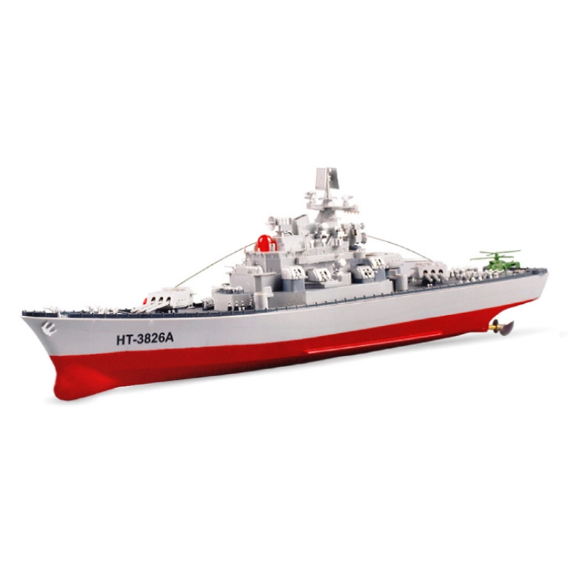 ht3826A Remote Control Battleship Model Toy RC Boat Simulation Military Model RC Warship Speedboat for Children 1 set/lot(China (Mainland))