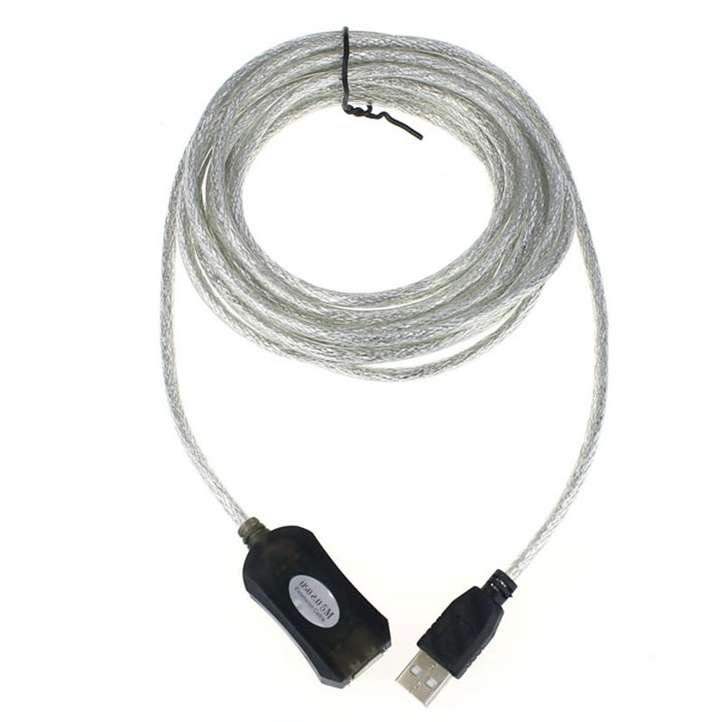 Cheapest !!!5M USB Active Repeater Cable Extension Lead For Computer Plug Extender Free Shipping(China (Mainland))