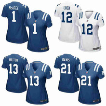 Top quality Pat McAfee Andrew Luck T.Y. Hilton josh ROBINSON For women colt(China (Mainland))