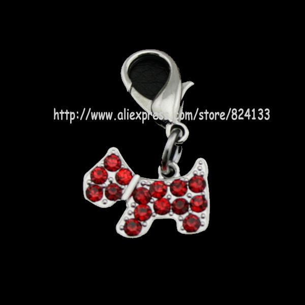 mini bling rhinestone dog tags pendant,dog jewelry charms for pets,hot sale zinc dog tags crystal,free shipping(China (Mainland))