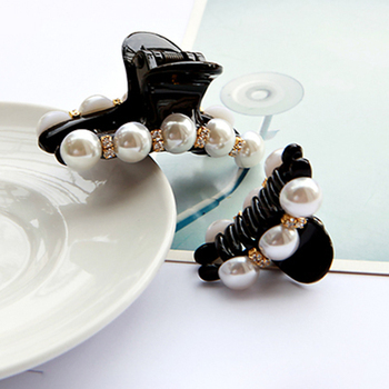 New Fashion Imitation Pearls Hair Accessories Crystal Hairpins Rhinestone Hair Grip Barrettes Headwear for Women Girl