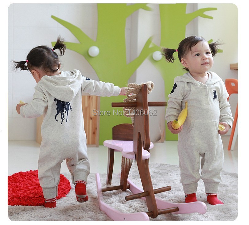 Baby Polo Romper baby One-Piece romper with hat Hooded long sleeve boy&girl polo kids sets summer jumpsuit 2 colors(China (Mainland))