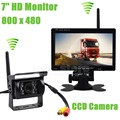 DIYKIT Wireless Transmission HD 800 x 480 7inch Car Monitor IR CCD Rear View Backup Camera