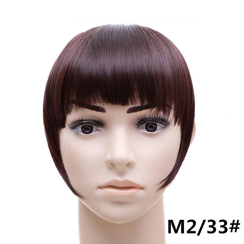 Jeedou короткий передний аккуратный челка клип короткая заколка для волос прямые 233.1_