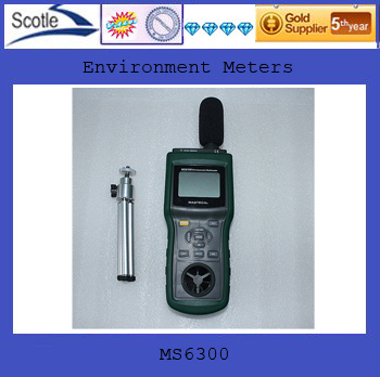free shipping new 100% MS6300 6IN1 Multi-Functional Enviroment Meter /Multifunction Environment Meters