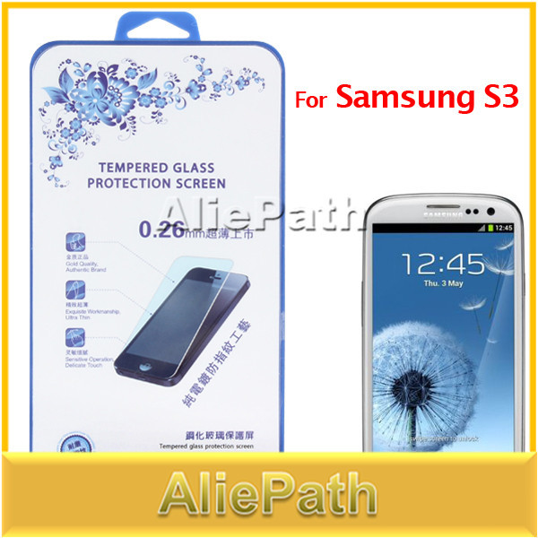 Ultra-thin Premium Tempered Glass Anti-shatter Screen Protector Guard for Samsung S3 / 9300 Mobile Phone(China (Mainland))
