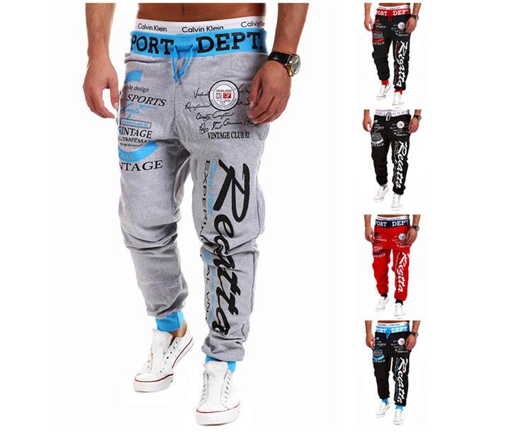 2015 Fashion Print Pants Hip Hop Men Joggers Jogging Pants men Harem Pants Training Fitness Sweatpants(China (Mainland))