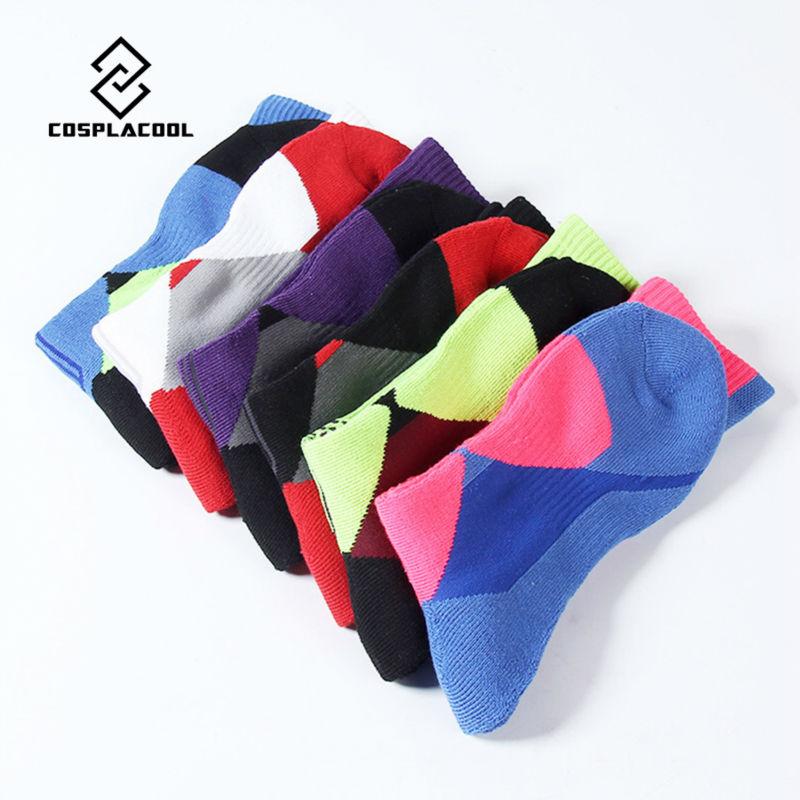 COSPLACOOL hot Salehigh quality professional sports cool big size socks thick towel bottom basketball athletic football knee sox(China (Mainland))