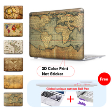 Antique Map Of World Laptop Sleeve Protective Cover For Notebook Apple Laptop Macbook Air Case For Mac Case A1278 A1286