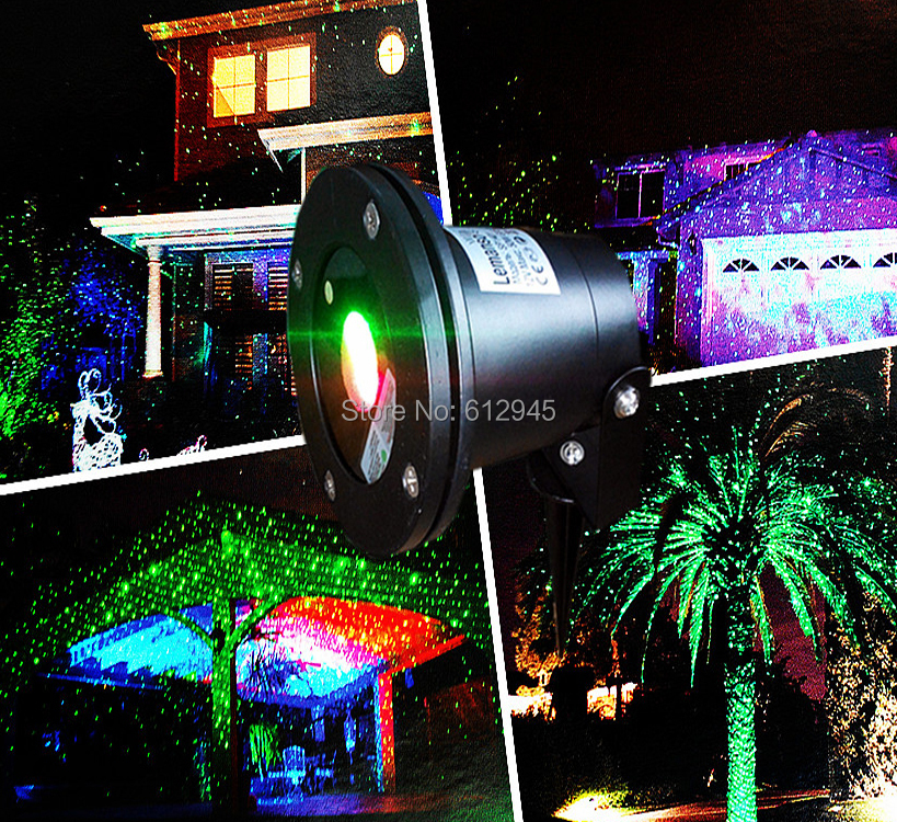 New Waterproof laser Landscape lighting for outdoor.Sky star Green Red laser Projector stage light for outside garden lawn(China (Mainland))