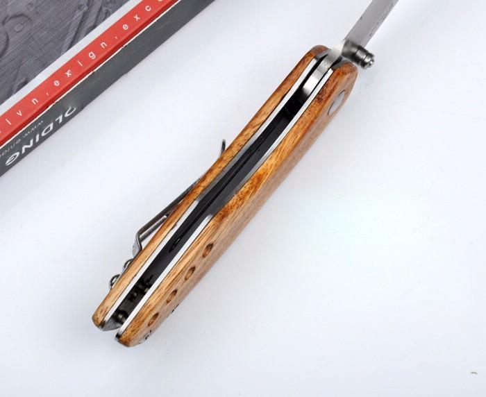 Buy Sharp Small Pocket Knife Camping Folding Knife 8Cr13MoV Hunting Survival Knives Full Blade/Half Sawtooth 1586# cheap