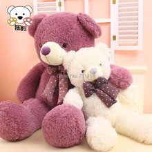 new arrival 120cm comfortable curls plush material tie wearing stuffed  lovely teddy couple bears lovers toy birthday gifts(China (Mainland))