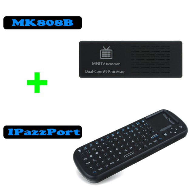 [Free IPazzPort Air Mouse keyboard Touchpad ] Original MK808 Android 4.1 Mini PC RK3066 A9 Dual Core Stick TV Dongle